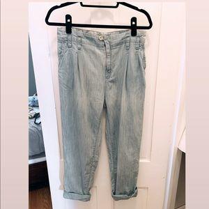 Zara Light Denim Boyfriend Trousers
